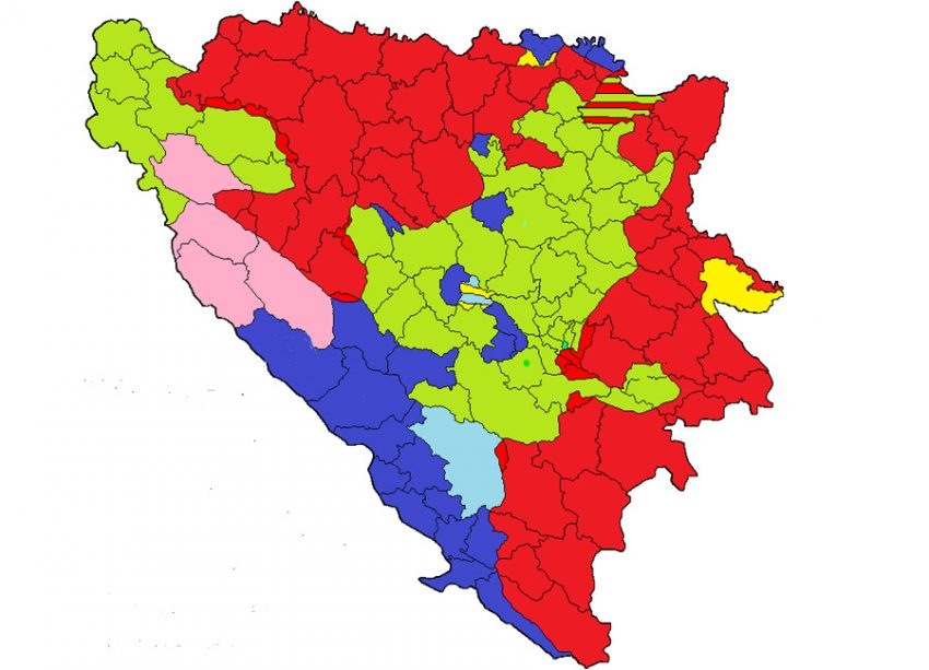ZEMLJOVID: ETNIČKO ČIŠĆENJE HRVATA U FEDERACIJI BiH!   Hercegovački portal